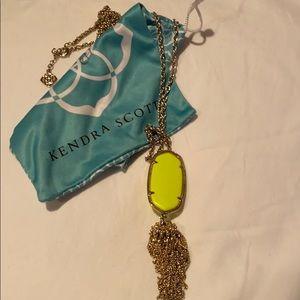 Kendra Scott Neon Tassel Necklace